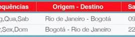Avianca inicia vôo entre Rio e Bogotá