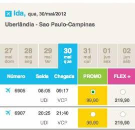 Azul já vende passagens de Uberlândia para Campinas a R$99,90