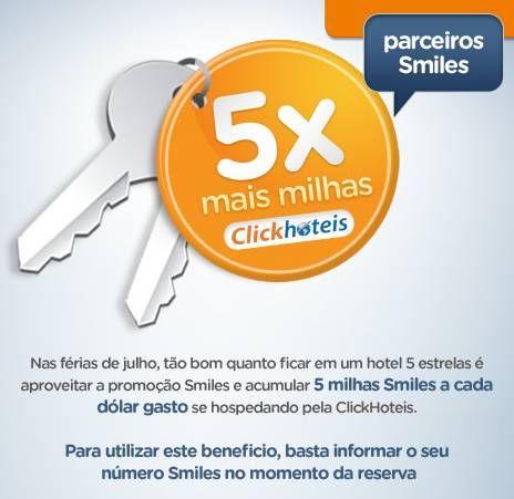 Smiles: Ganhe 5x mais milhas em Julho