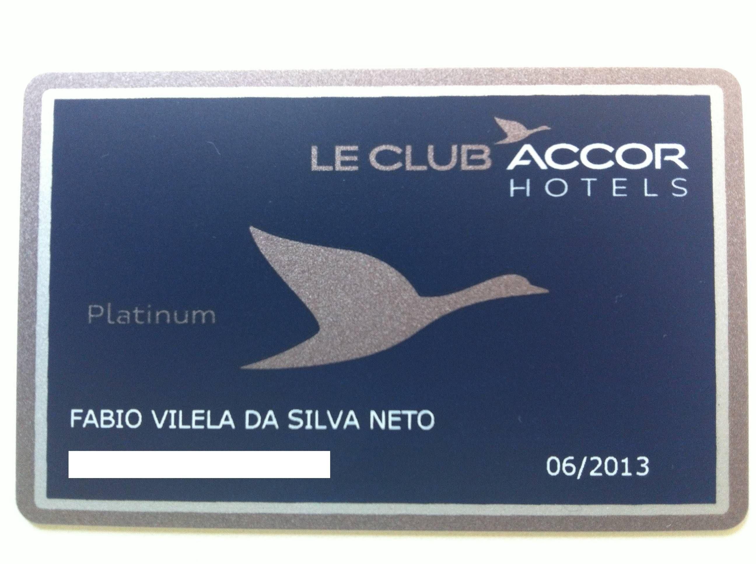 Cartão Le Club Platinum Accor Hotels – Kit de boas vindas