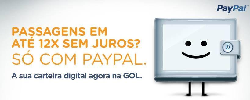 GOL oferece pagamento via PayPal em até 12x sem juros
