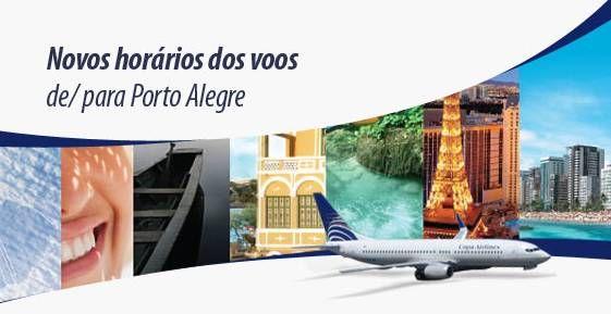 COPA Airlines tem novo horário de voos para/de Porto Alegre