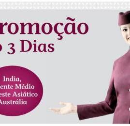 MEGAPROMO Qatar Airways: Descontos de até 40% – Somente até quinta-feira
