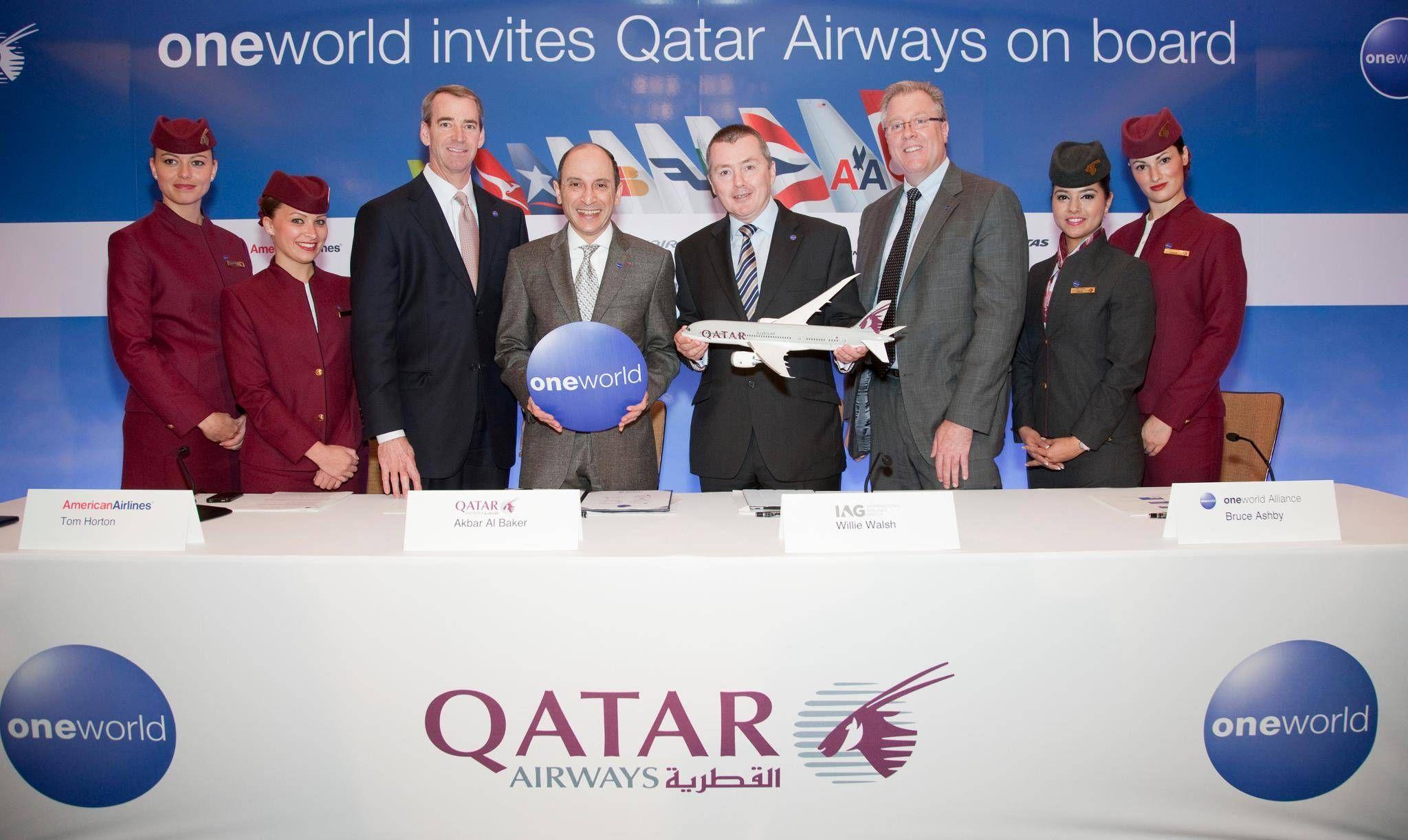 Qatar Airways se junta à oneworld