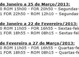 Alitalia começa a voar para Fortaleza em Janeiro