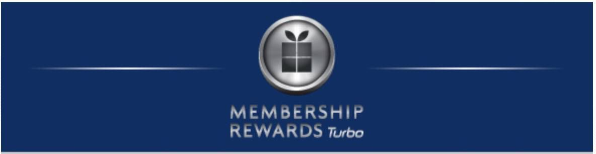American Express traz de volta Membership Rewards Turbo
