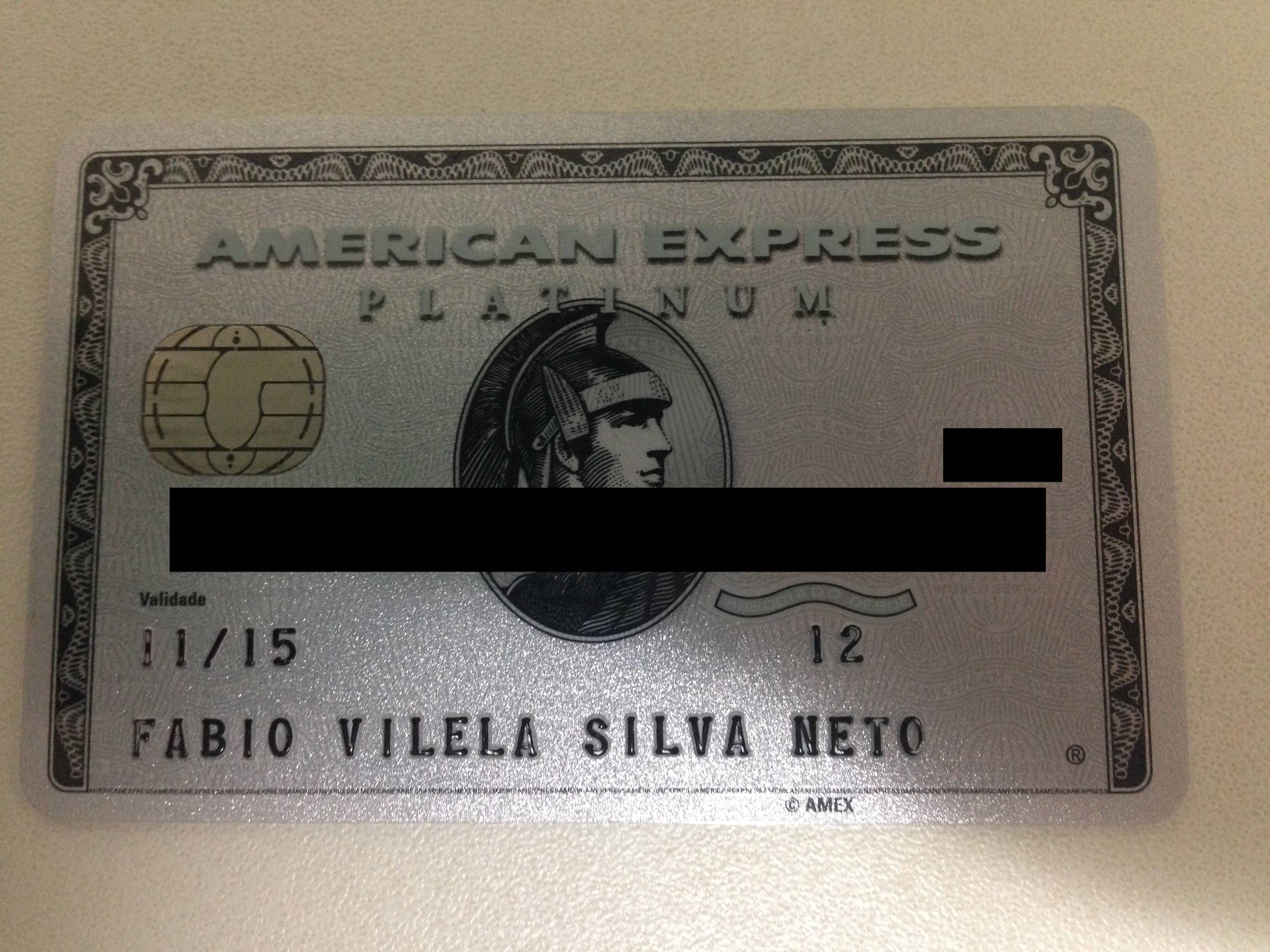 American Express The Platinum Card – Kit de boas vindas