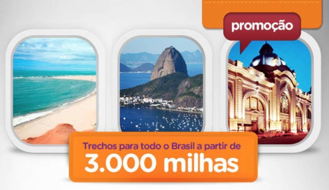 Smiles emite passagens por 3.000 milhas para todo o Brasil
