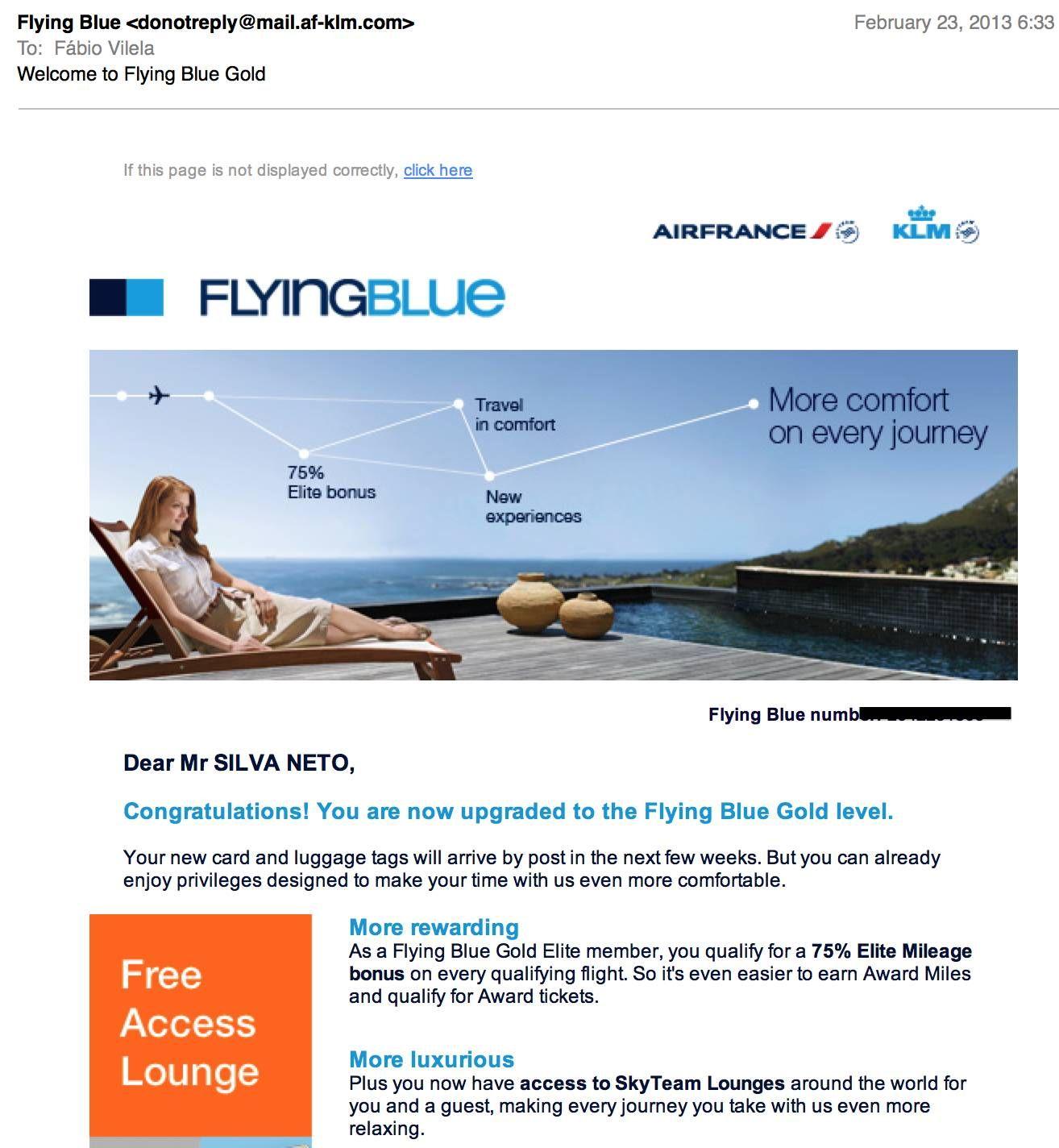 Air France e KLM honra status match publicado e libera o upgrade para os clientes