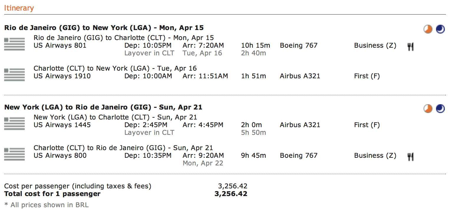 IMPERDÍVEL ! US Airways tem passagens em classe Executiva pros EUA por R$3.250,00