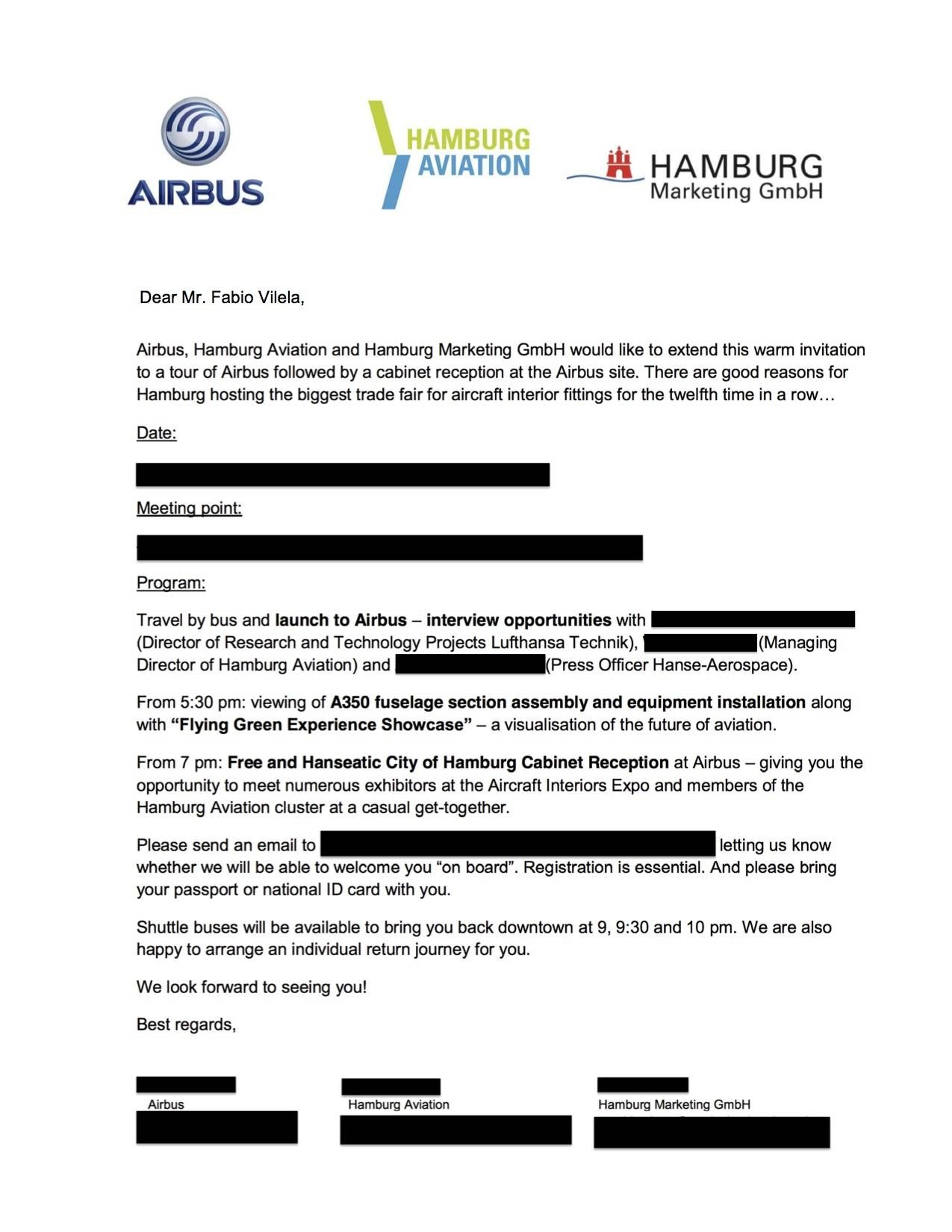 AIRBUS INVITATION