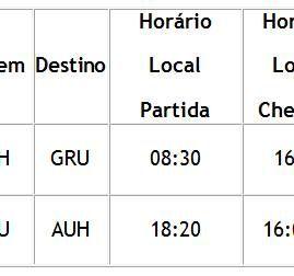 Alteração do horário e frequência das operações da Etihad Airways no Brasil
