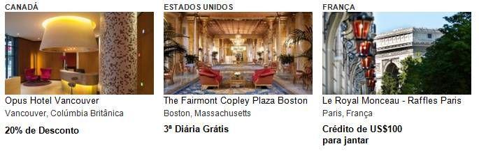 Ofertas por tempo limitado no Visa Luxury Hotel Collection