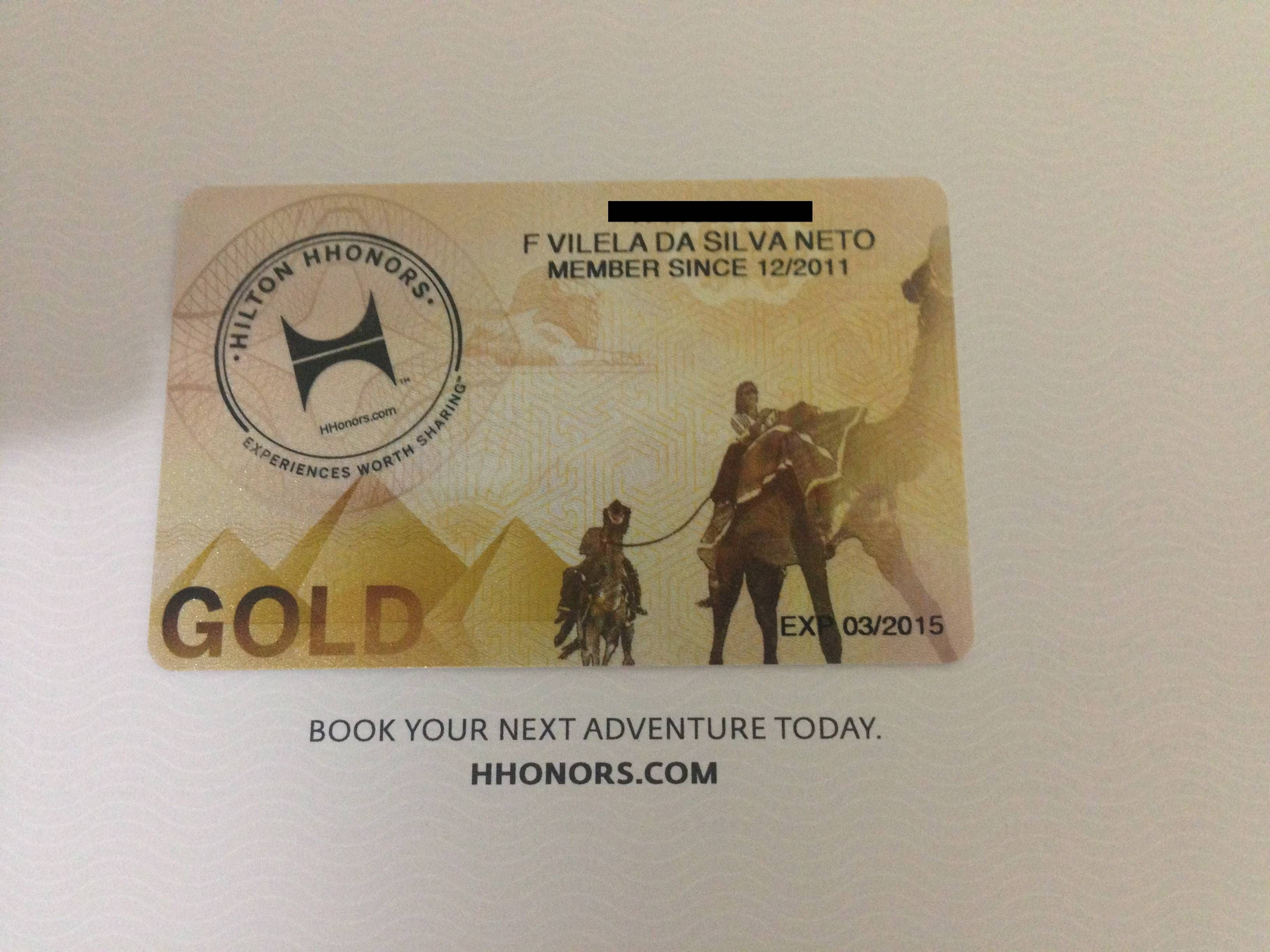 Kit de boas vindas do cartão HHonors Gold – Welcome Kit