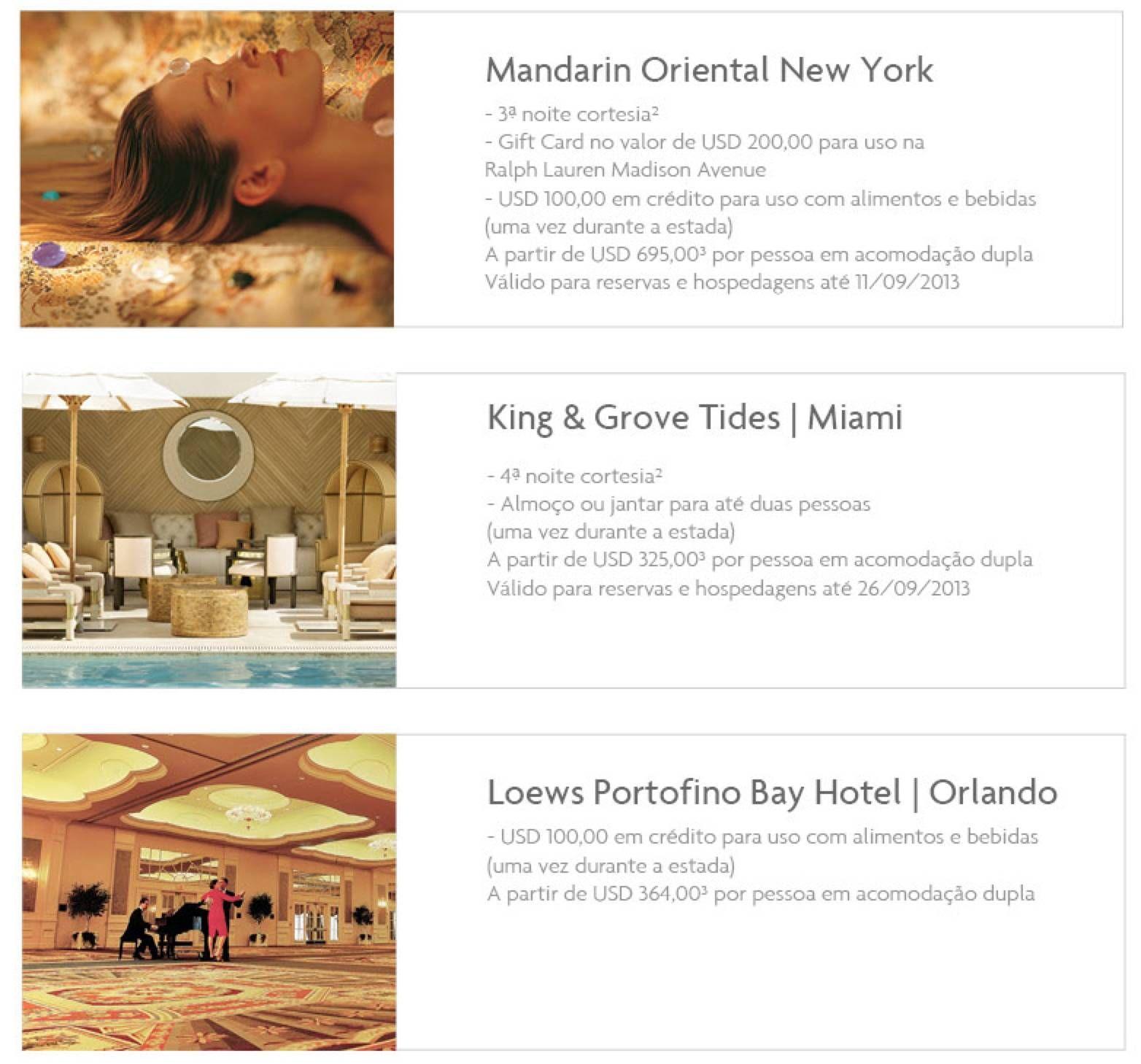 The Platinum Card da American Express oferece tarifa especial na Primeira Classe da TAM para os EUA e benefícios exclusivos em hotéis