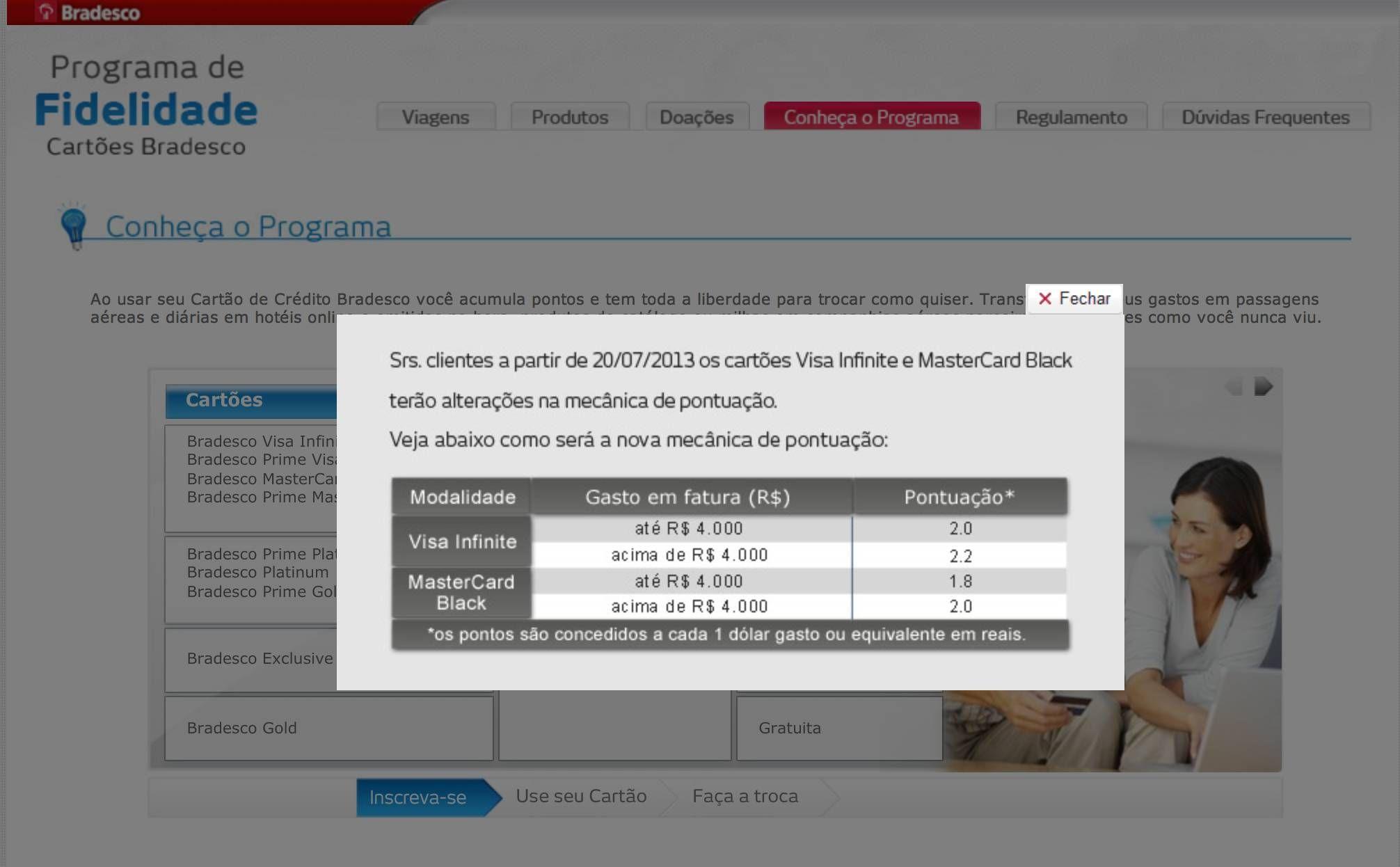 Bradesco Fidelidade altera pontuação do Mastercard Black e Visa Infinite de acordo com o gasto do cliente