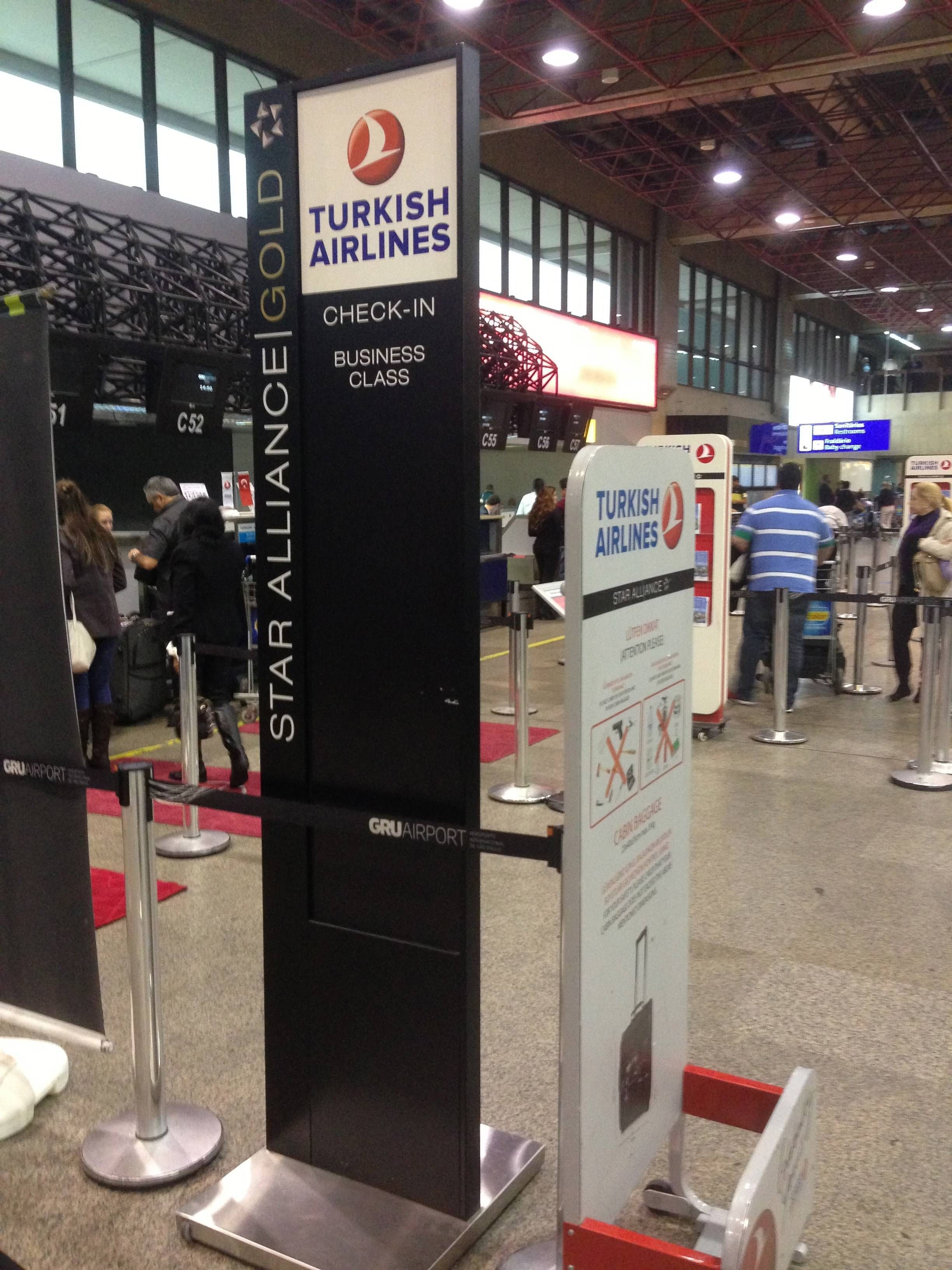 Turkish Airlines checkin executiva