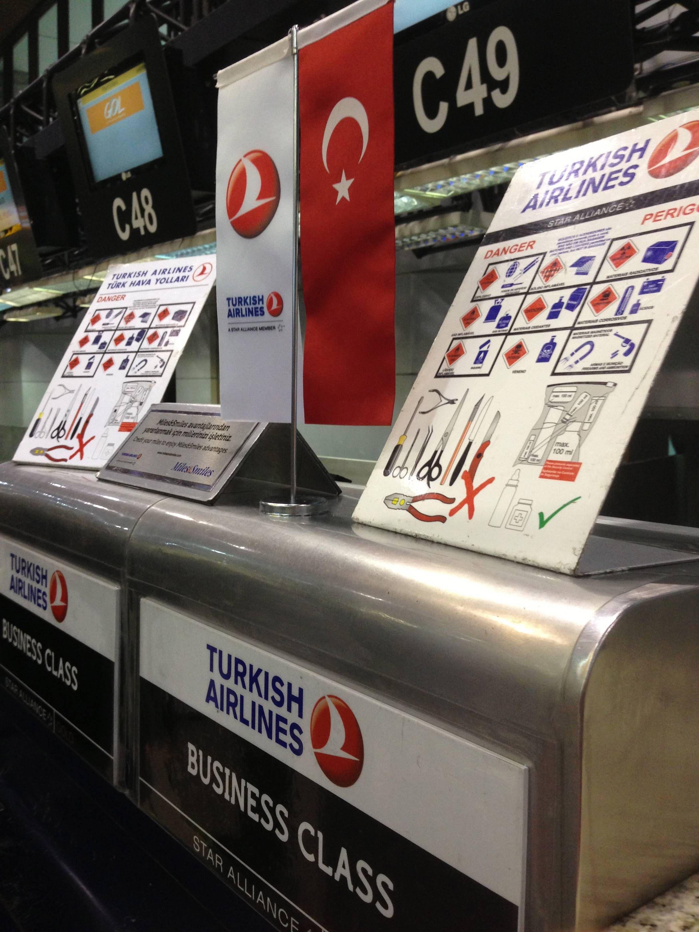 Turkish Airlines checkin executiva