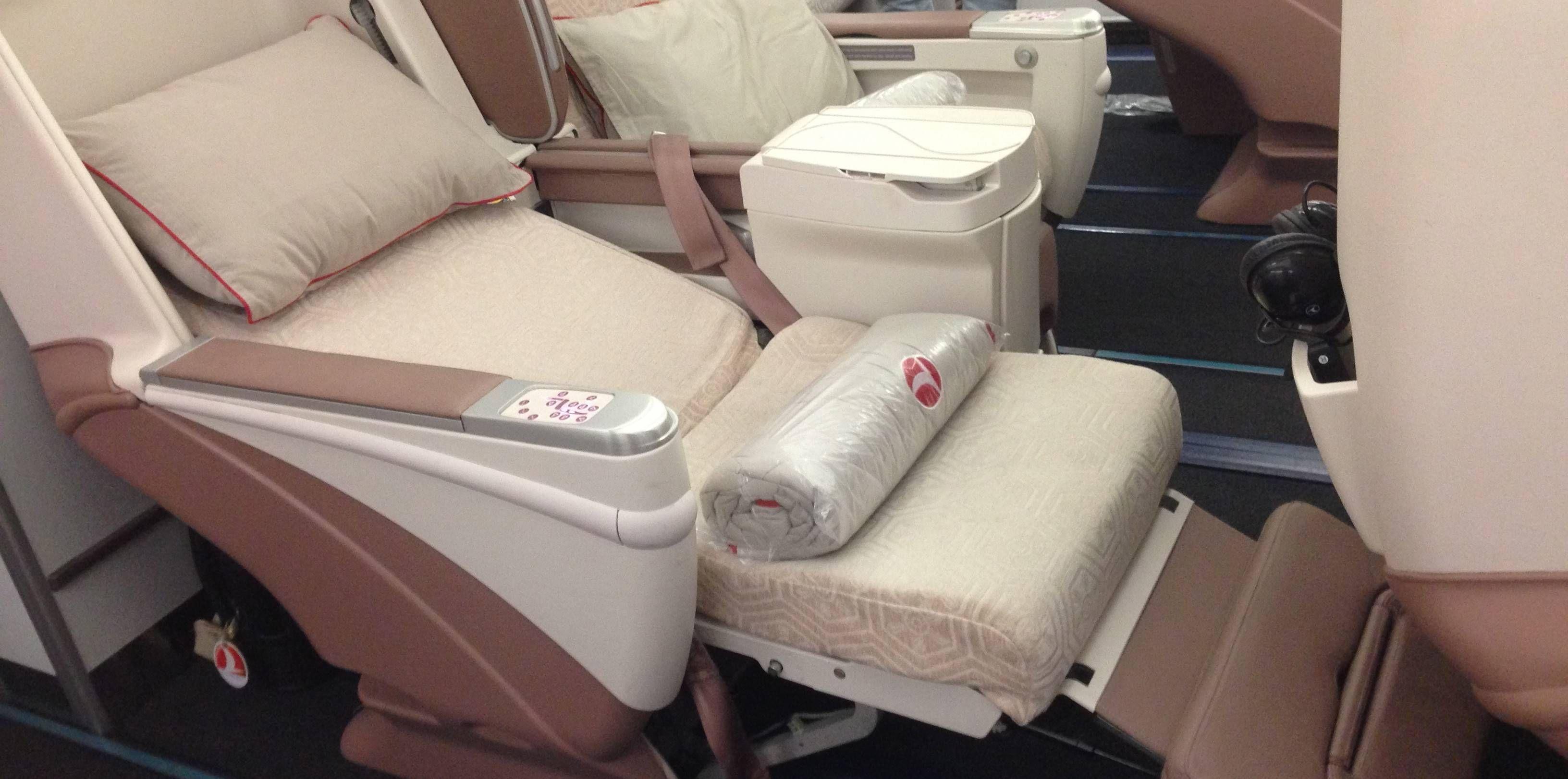 Classe Executiva da Turkish Airlines no Airbus A340