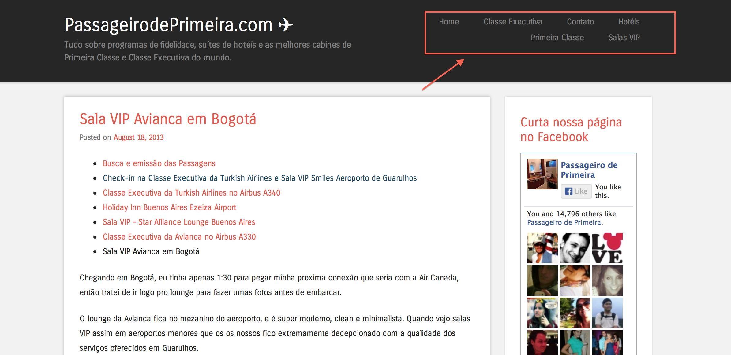 Melhorias no layout do PassageirodePrimeira.com