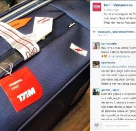 PassageirodePrimeira.com é destaque nas redes sociais da TAM