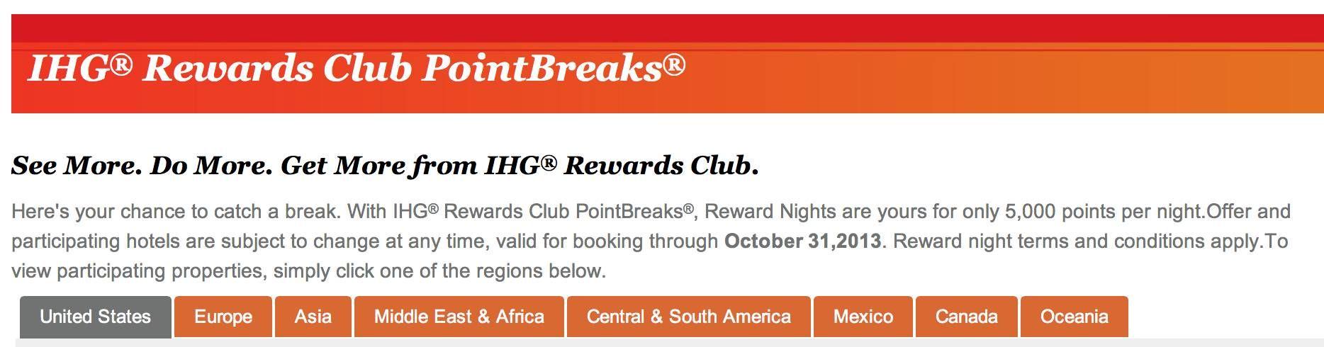 ihg points break