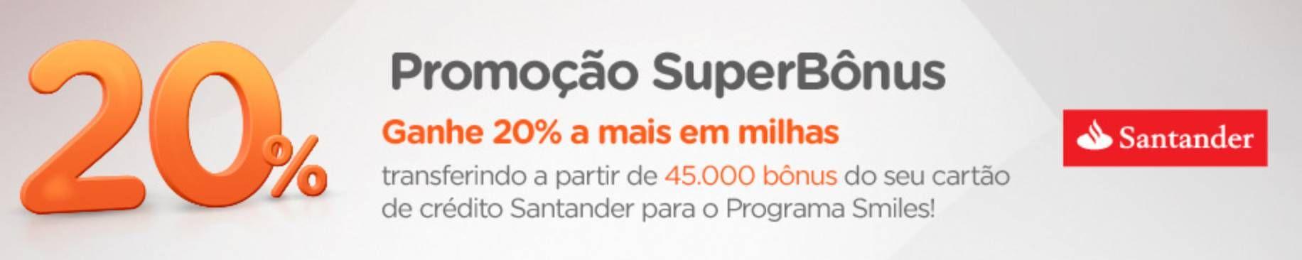 Smiles oferece 20% a mais de milhas na transferência de pontos de clientes Santander