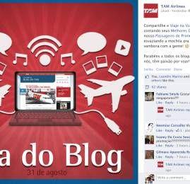 Dia 31/08 – Dia do Blog – Homenagem da TAM ao PassageirodePrimeira.com