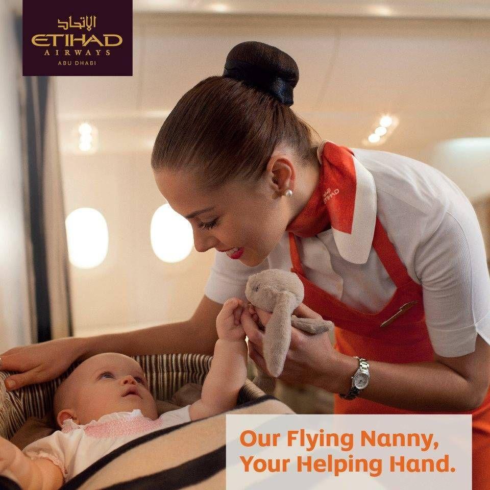 Etihad lança serviço de babá à bordo
