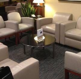 Sala VIP United Club no Aeroporto de Cleveland