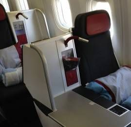 Classe Executiva da Austrian Airlines no B767-300
