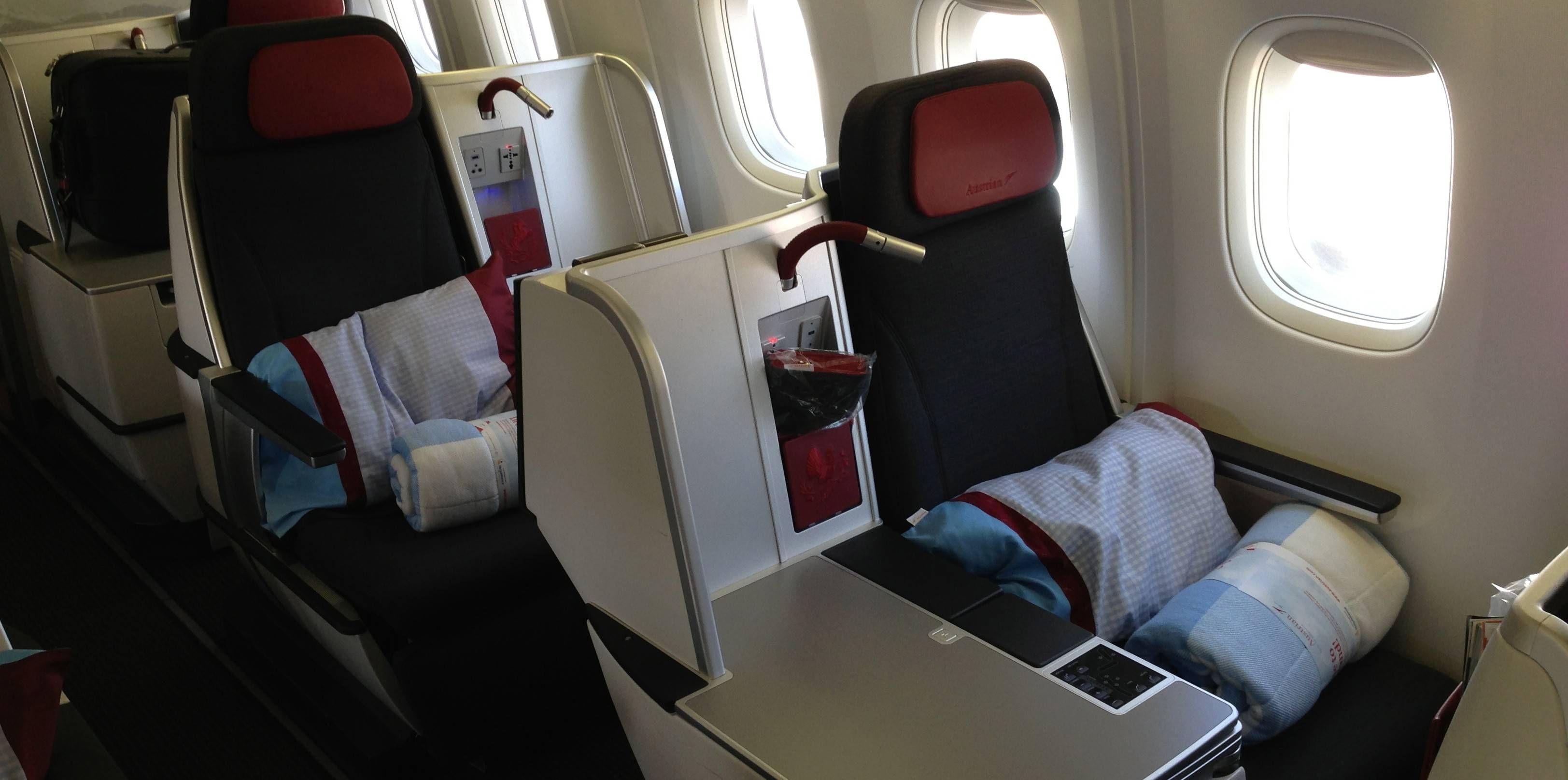 Classe Executiva da Austrian Airlines no B767-300