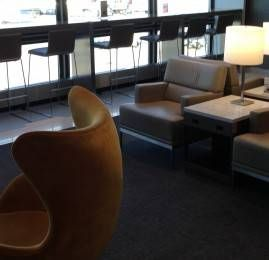 Sala VIP United Club no Aeroporto de Chicago (Nova)