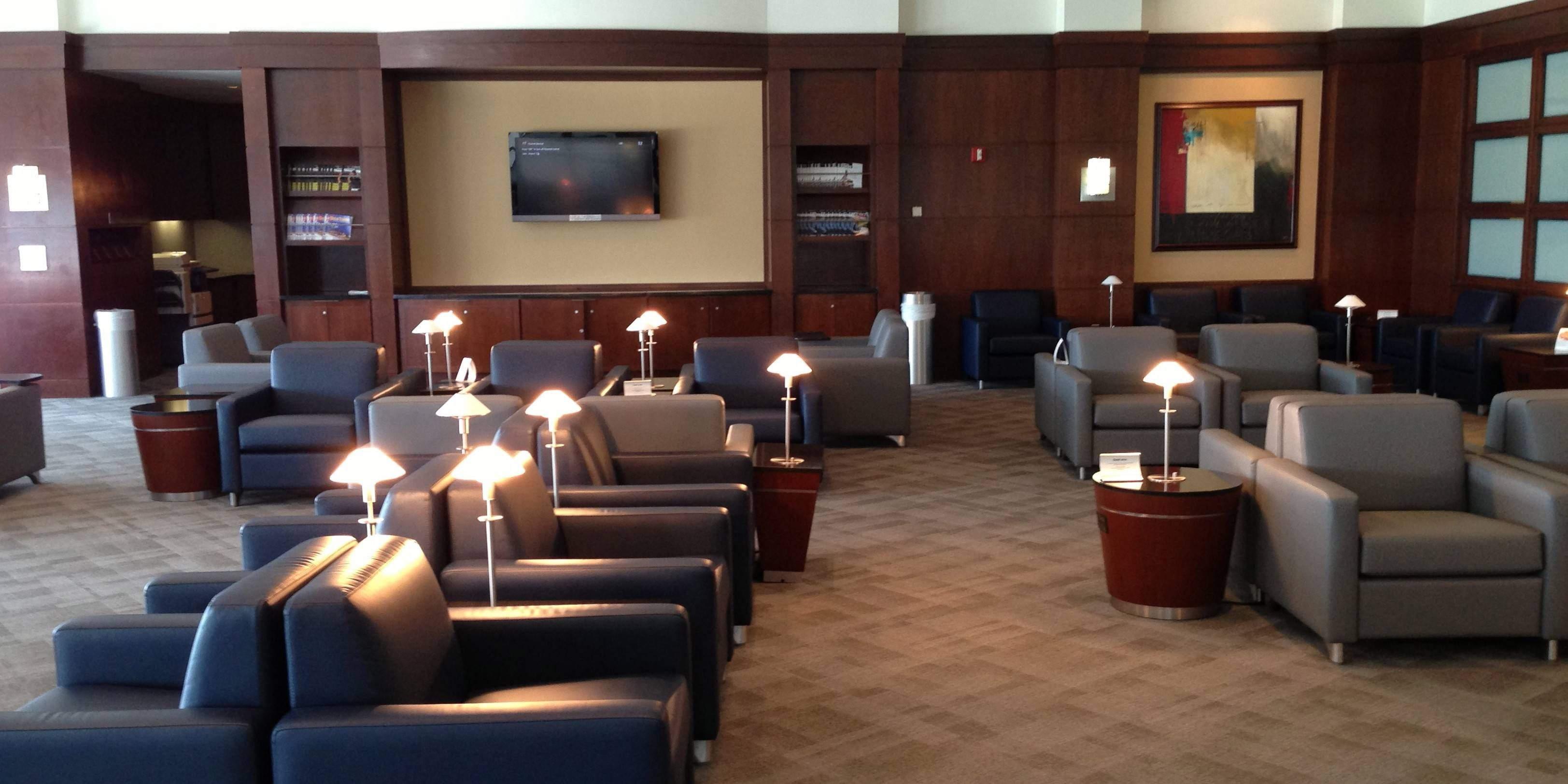 Sala VIP US Airways Club no Aeroporto de Charlotte