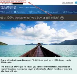 US Airways oferece 100% de bonus na compra de milhas (direcionada)