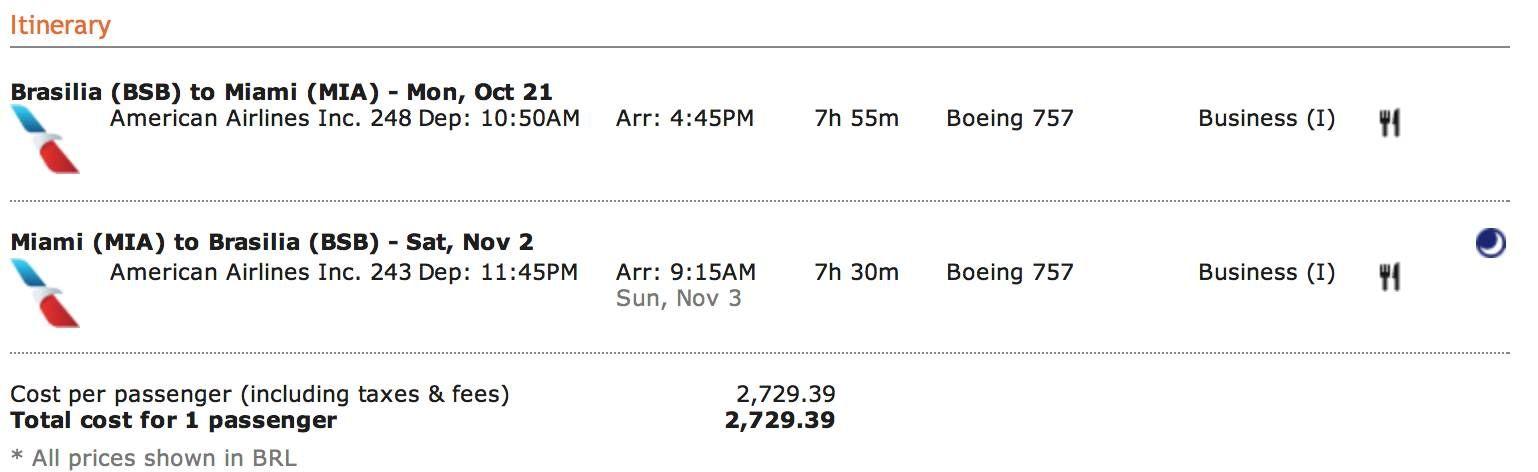 Promoção Imperdível: Passagens para Miami com American Airlines por R$2.700,00 (ida e volta) em Classe Executiva