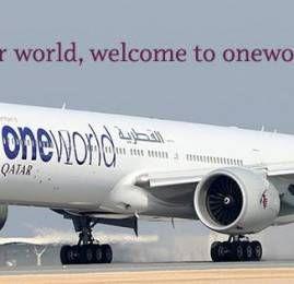 Qatar Airways entra oficialmente na oneworld e oferece o dobro de milhas para todas a cias da aliança
