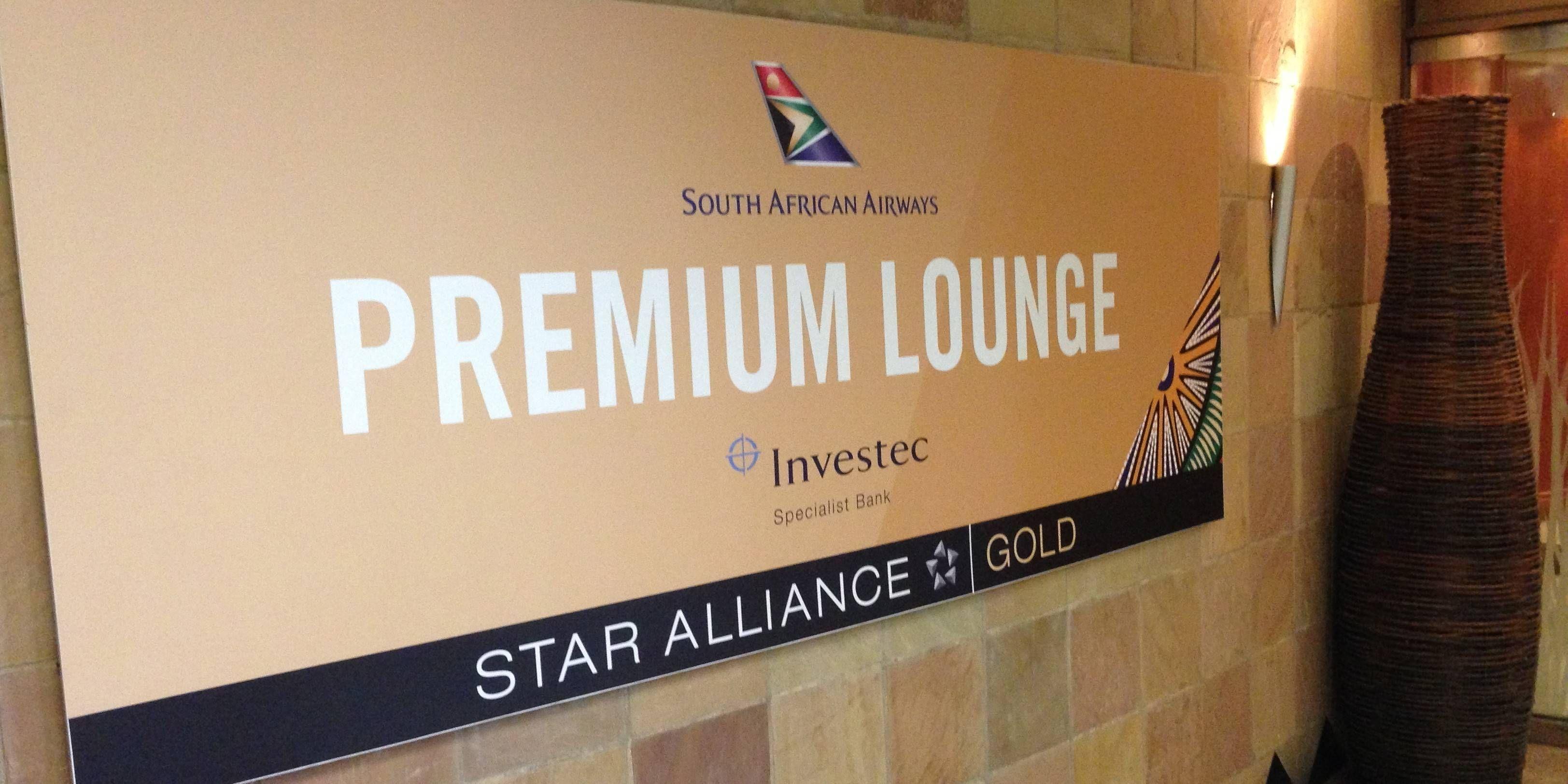 Premium Lounge South African Airways no Aeroporto de Johannesburgo (JNB)