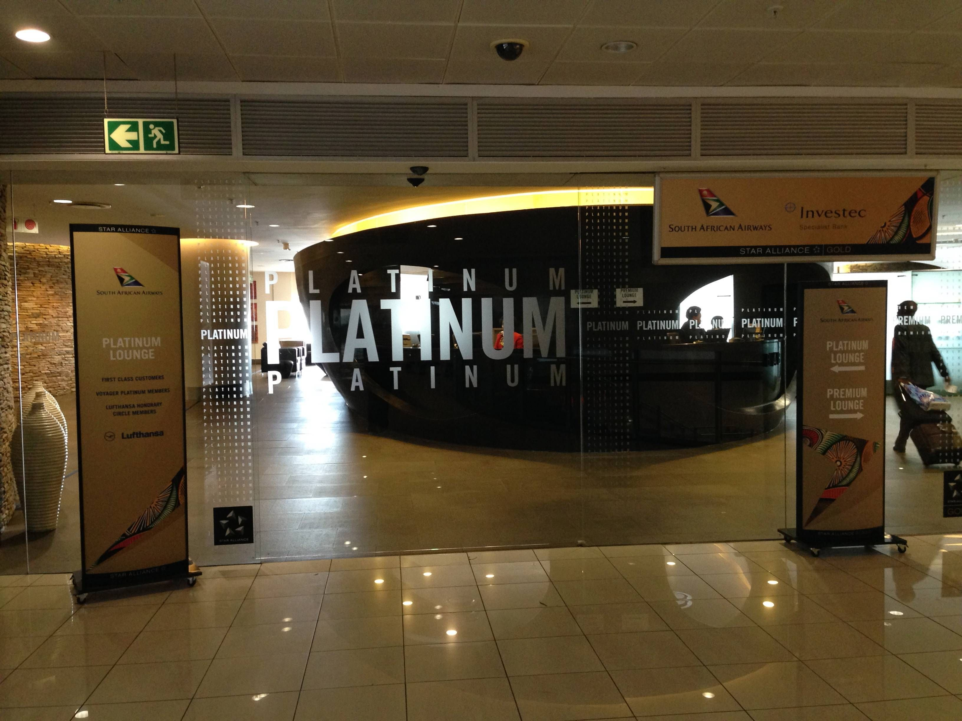 Platinum Lounge South African Airways Johannesburg