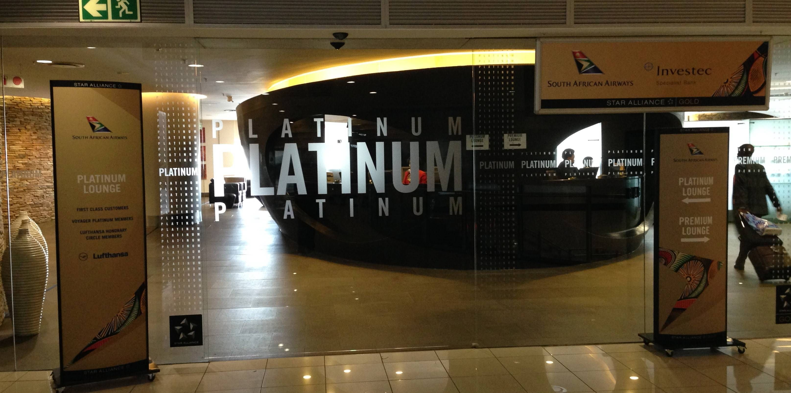 South African Airways Platinum Lounge no Aeroporto de Johannesburgo (JNB)