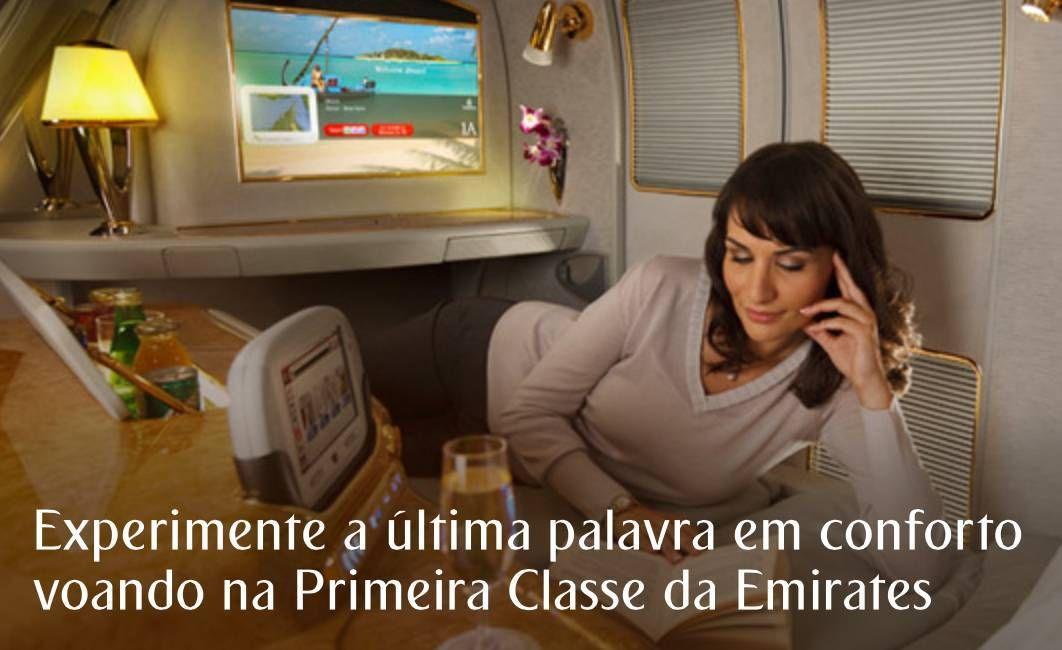 Promoção da Emirates: Voe de Primeira Classe pagando preço de Executiva
