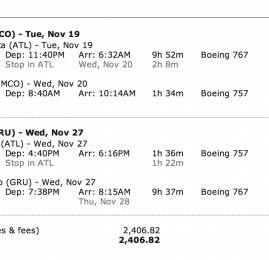 Delta também tem passagens para Orlando em classe Executiva por R$2.400,00 (ida e volta)