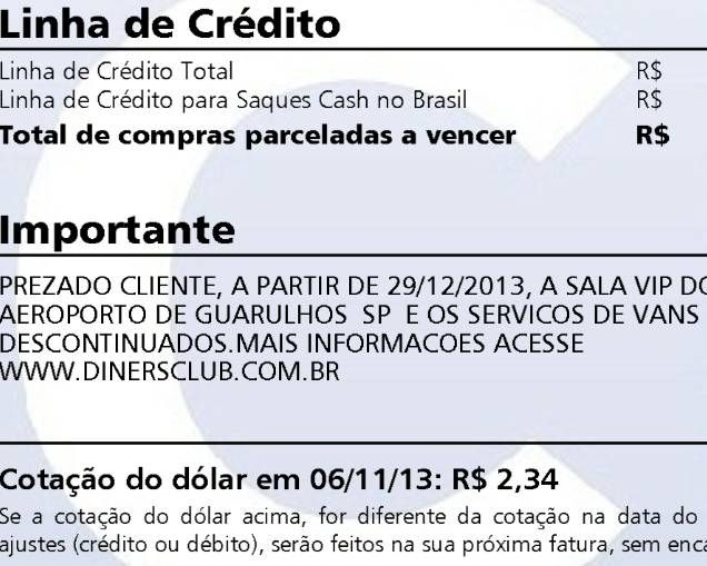 Diners vai fechar sala VIP de Guarulhos este ano e encerrar o serviço de Van