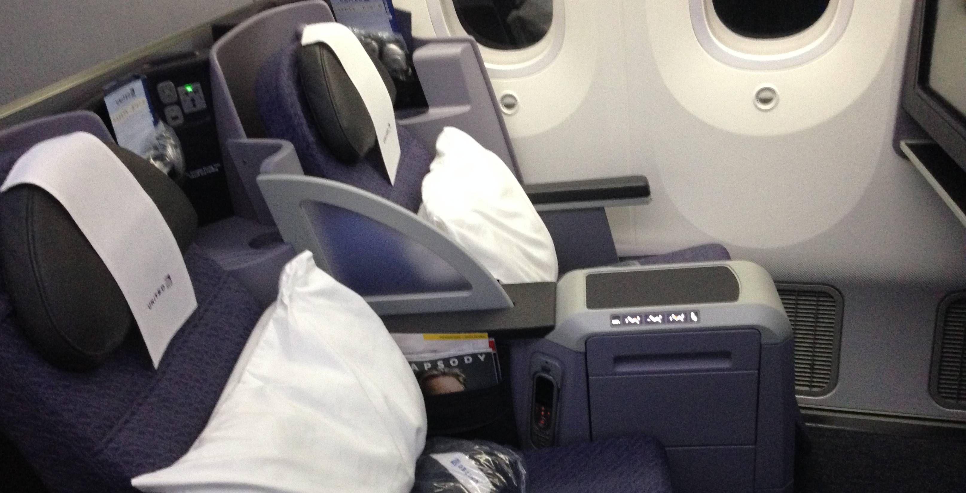 Classe Executiva da United no Boeing 787-800 Dreamliner