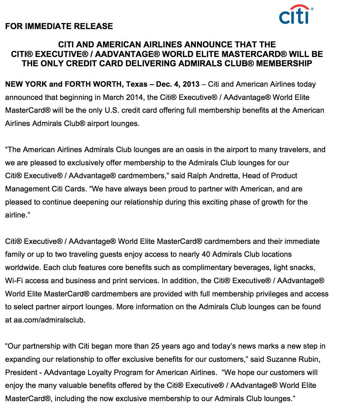 The Platinum Card da American Express vai deixar de oferecer acesso as salas VIP's da American Airlines e US Airways