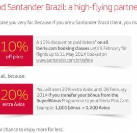 Iberia e Santander firmam parceria para troca de pontos