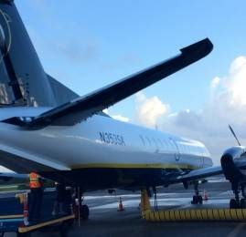 Classe Econômica da Seaborne Airlines no Saab 340B