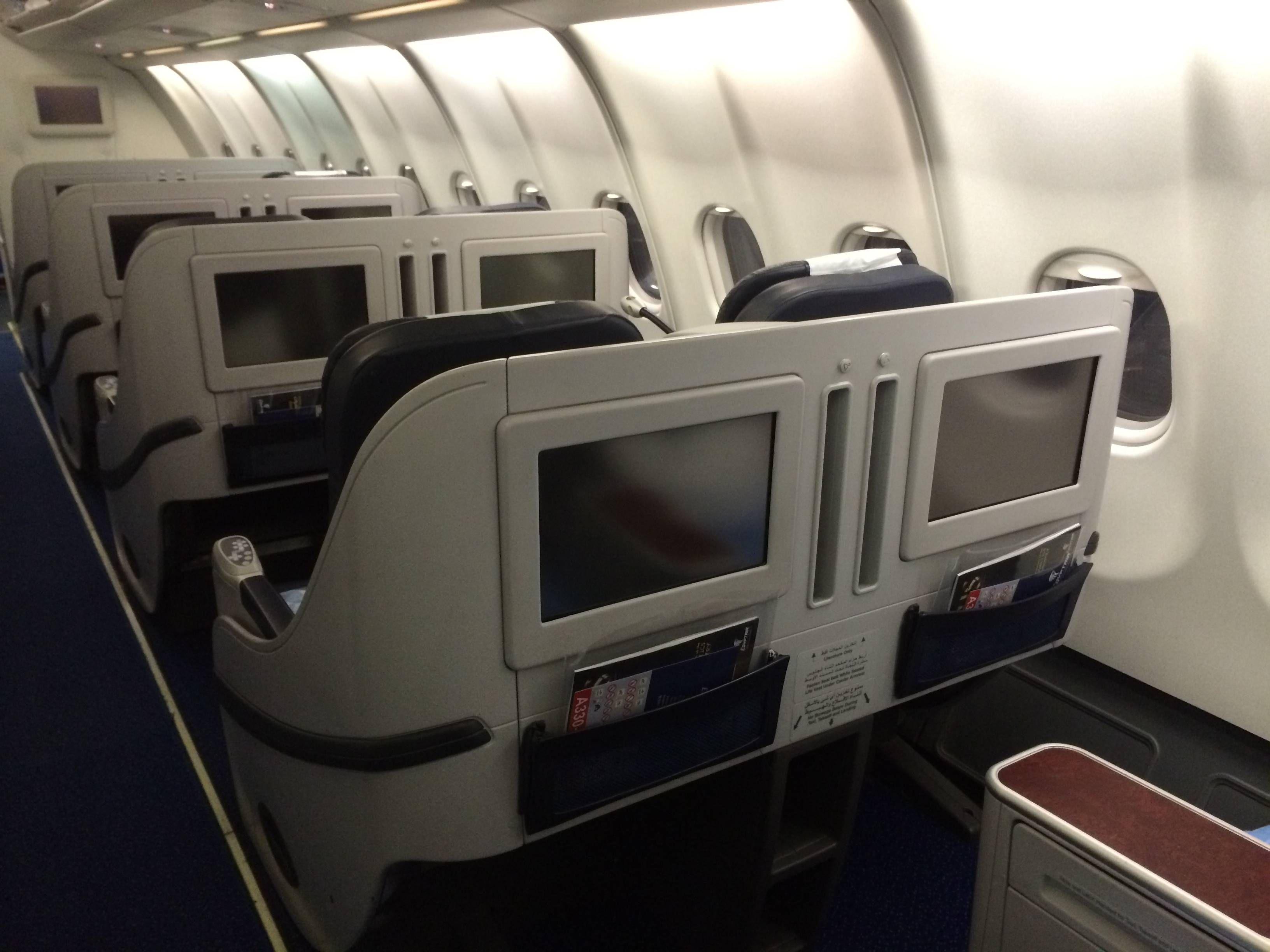 Classe Executiva Egyptair A330 Business Class