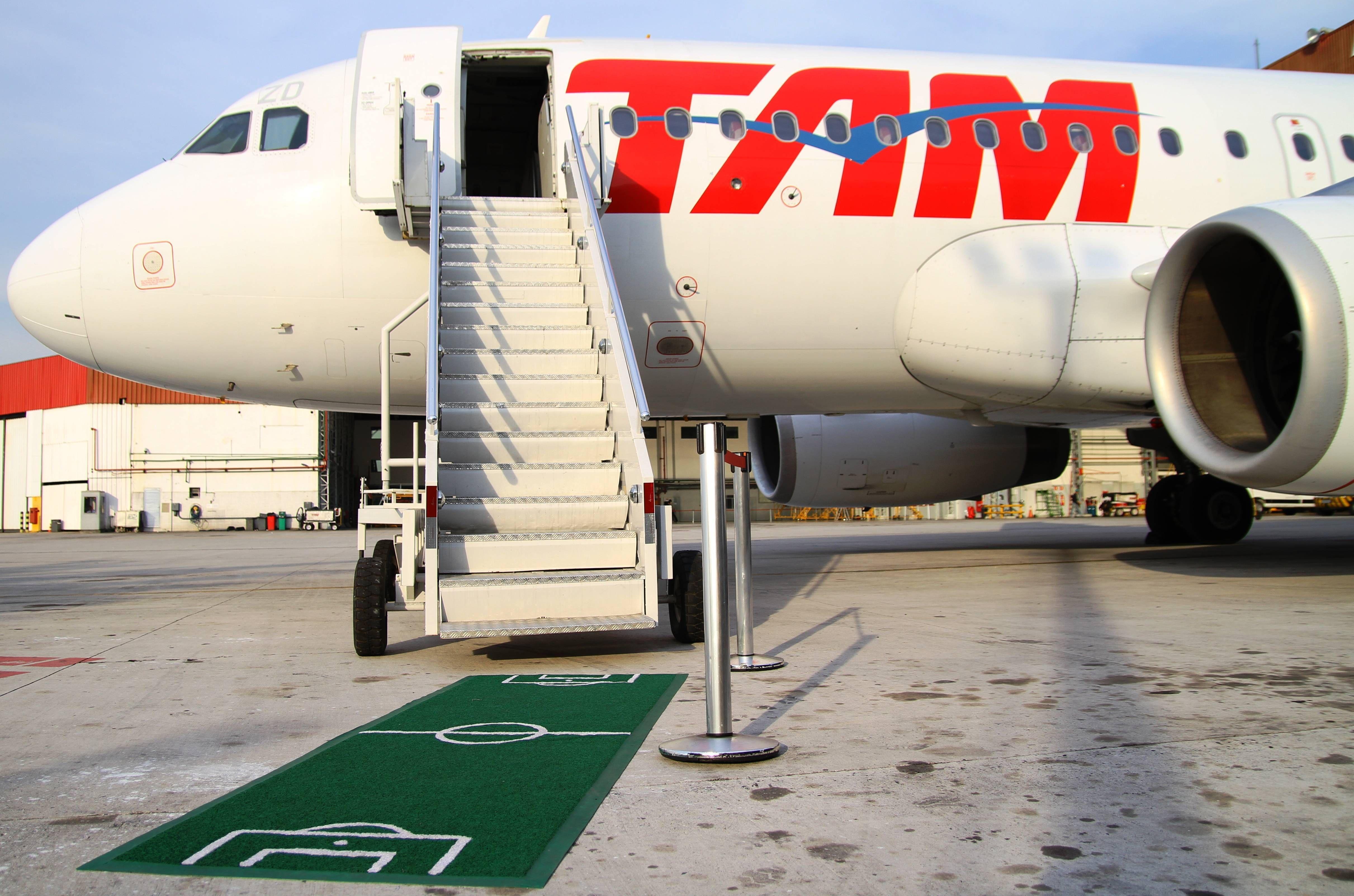 TAM tem ações especiais para funcionários em dias de jogos