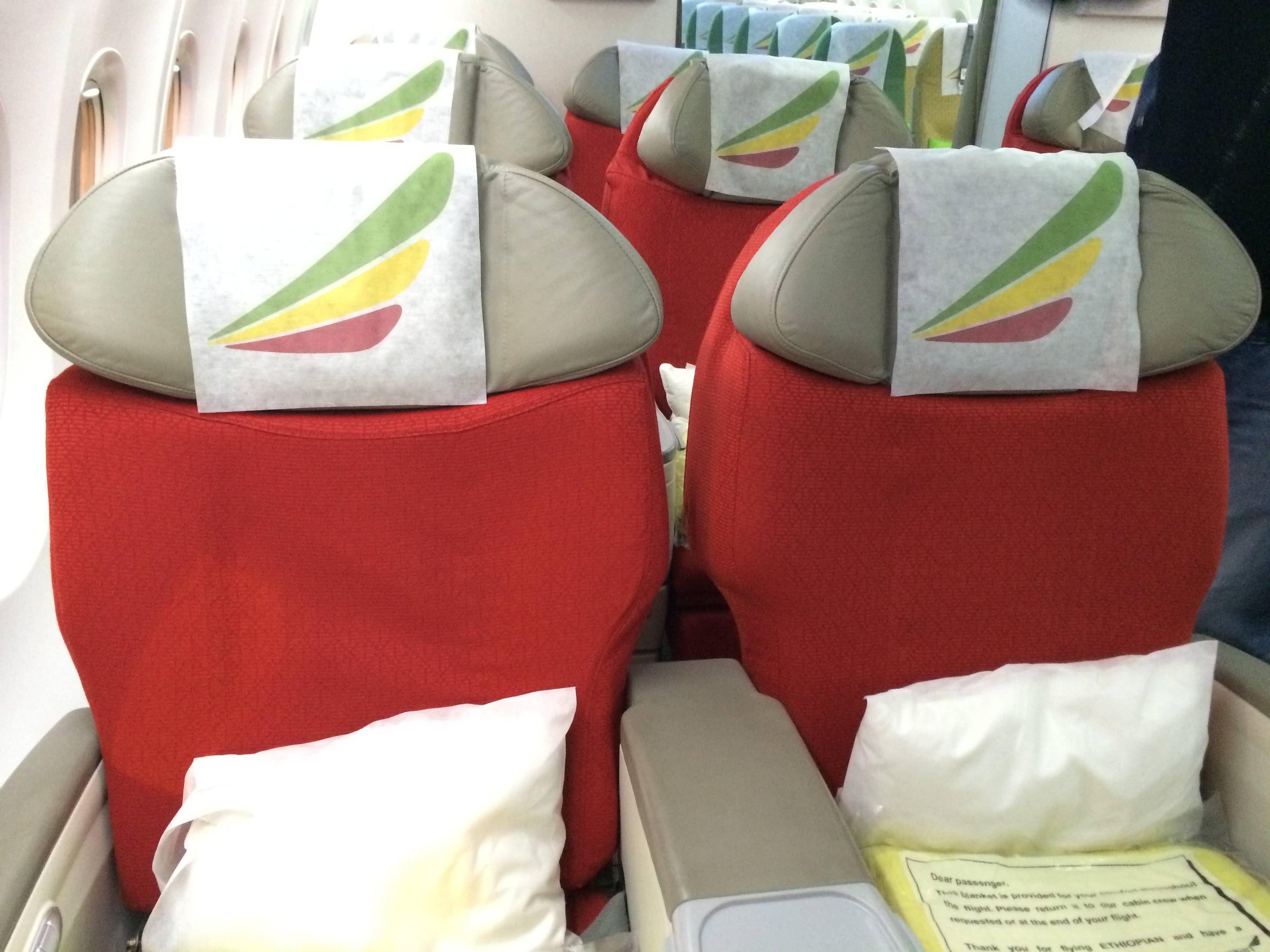 Classe Executiva da Ethiopian Airlines no Boeing 737-800